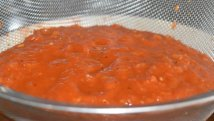 Sieving the banging barbecue sauce!