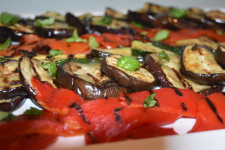 A delicious array of barbecue grilled Mediterranean vegetables