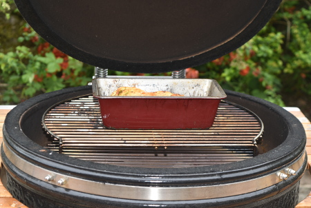 Use an old tin when baking on a barbecue - it's likely to tarnish anyway!
