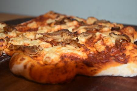 Delicious pizza funghi!